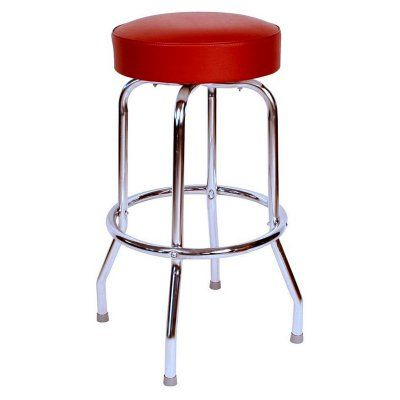 Richardson Seating Floridian 24 in. Retro Swivel Counter Stool Wine - 0-1950WIN24, Durable