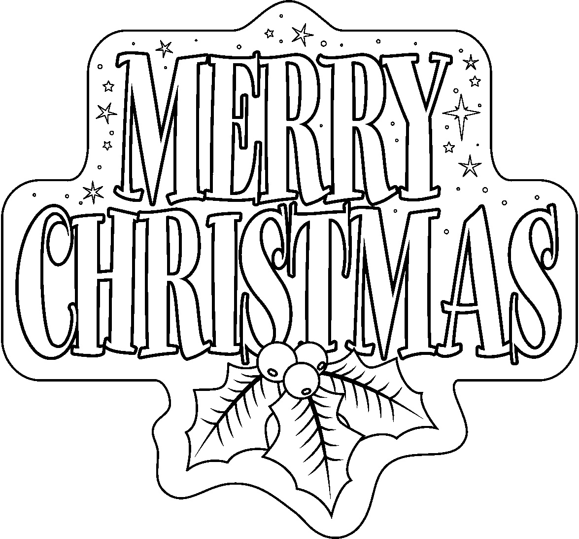 Kostenlose druckbare Malvorlagen Frohe Weihnachten - Adult