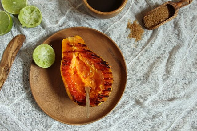 Grilled Papaya with Lime