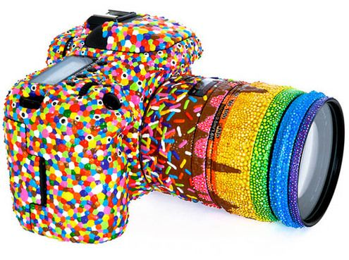 Really Cute!! Candy Coated DLSR Canon 7D - strange, i become hungry for sweets ;) Would u buy it?