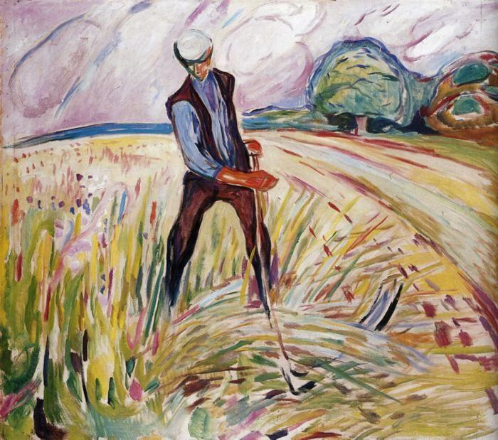 edvard munch the haymaker 1916 kunstproduktion expressionismus malerei kunst moderne in meister holzschnitten kaufen