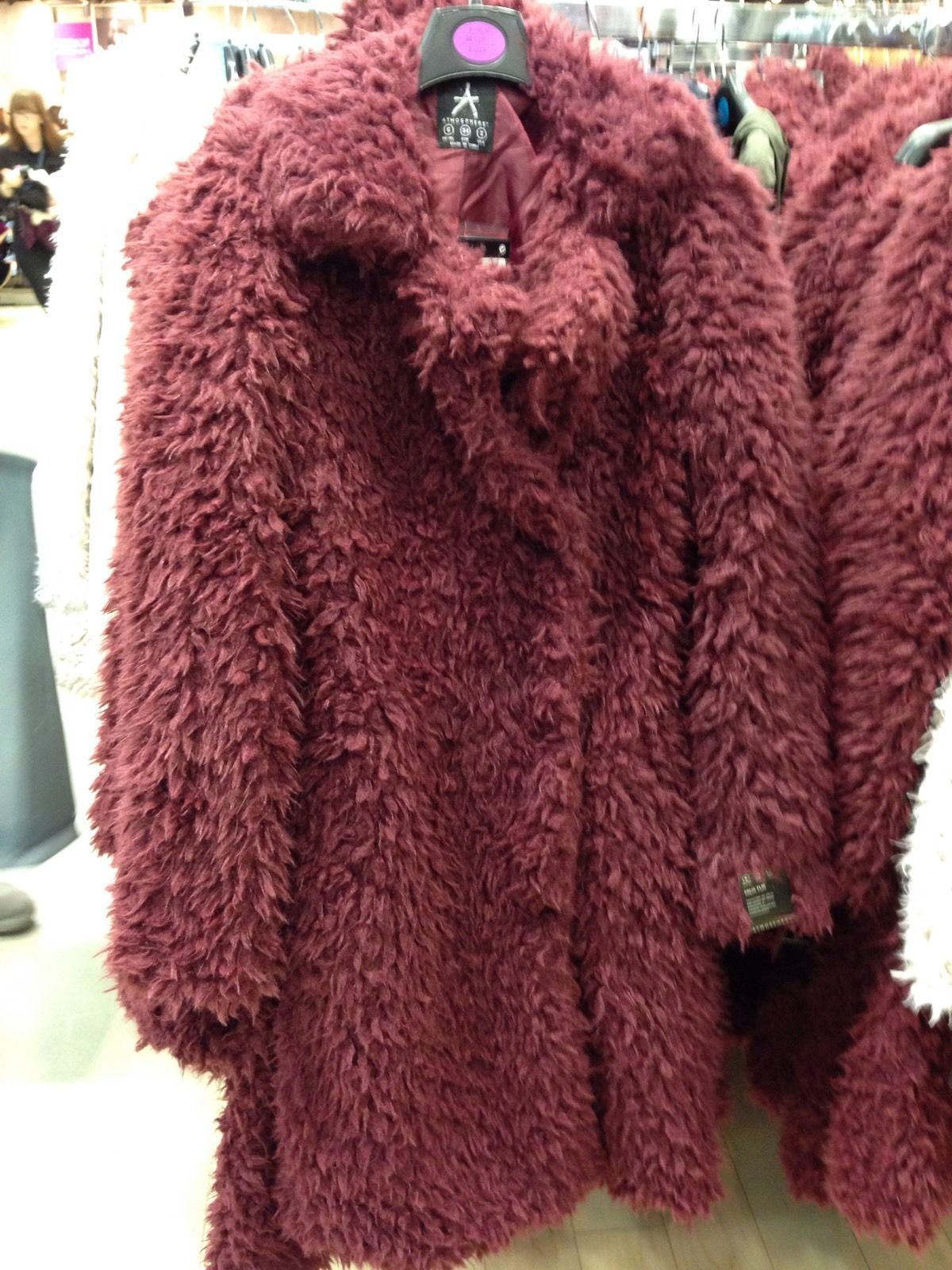 f5ac2a300 Primark Women Wine Teddy Faux Fur Coat | teddy bear research | Fur ...