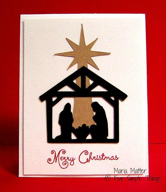 Five Simple Things Christmas Cardmaking - Cricut Handmade