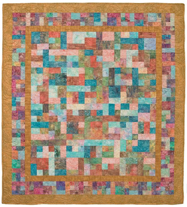 Mosaic-like Gold Rush quilt made with fat quarters - from the book ... : how quilts are made - Adamdwight.com