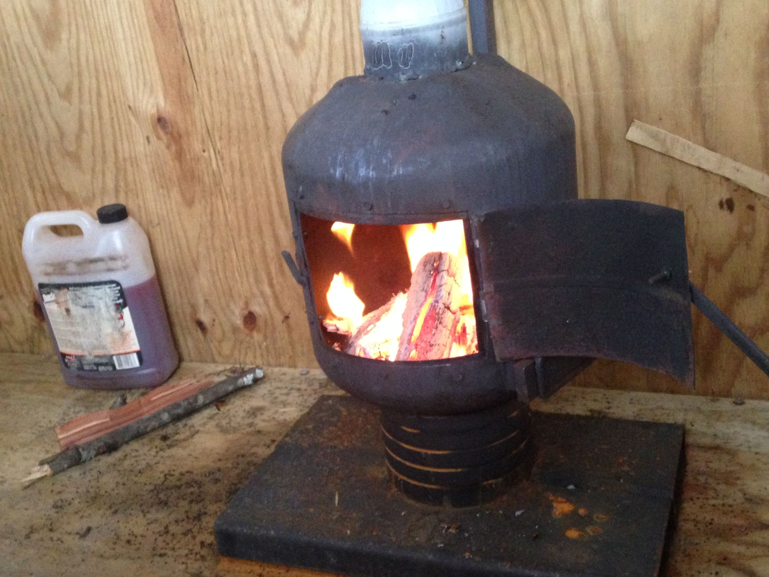 Small Shop Built Wood Stove With 4 Quot Flu For Use In A 6 X8