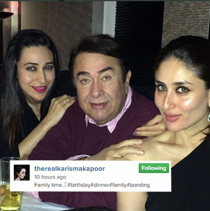 Karishma Kapoor Posted A Picture With Sister And Father On Instagram Bollywood Actors Movie Stars Bollywood
