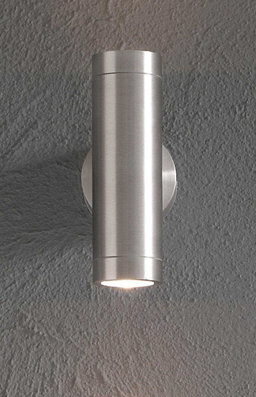 the beacon lighting ledlux marine 900 lumen ip65 updown exterior wall bracket in