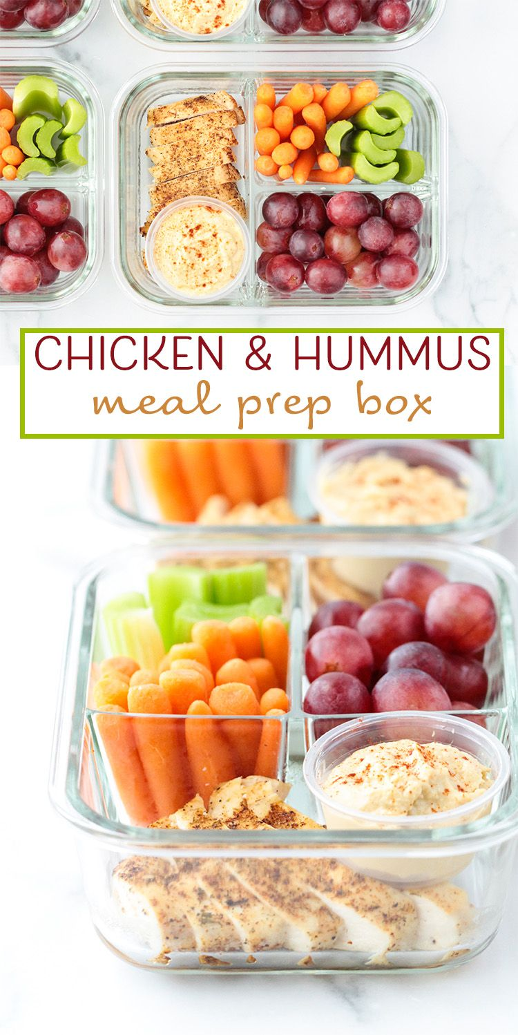 Chicken hummus meal prep box peanut butter and fitness