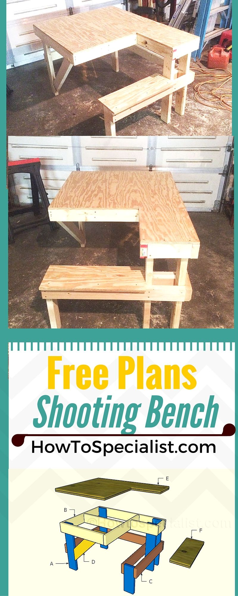 Free Shooting Bench Plans Howtospecialist How To Build Step By Step Diy Plans Shooting Bench Shooting Bench Plans Woodworking Plans