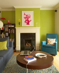 Lime Green Living Room Decor U2013 Where To Start   This Living Room From  Huffington Post Part 77