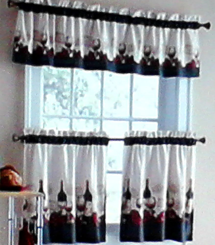 vineyard merlot chablis chateau wine kitchen curtains tiers