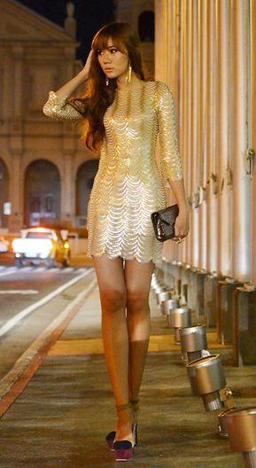 Gold fish scale dress #cocktaildress #golddress | COCKTAIL DRESSES ...