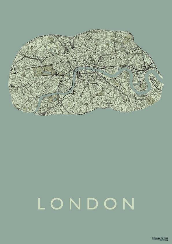 London - Olive - Kunst in Kaart