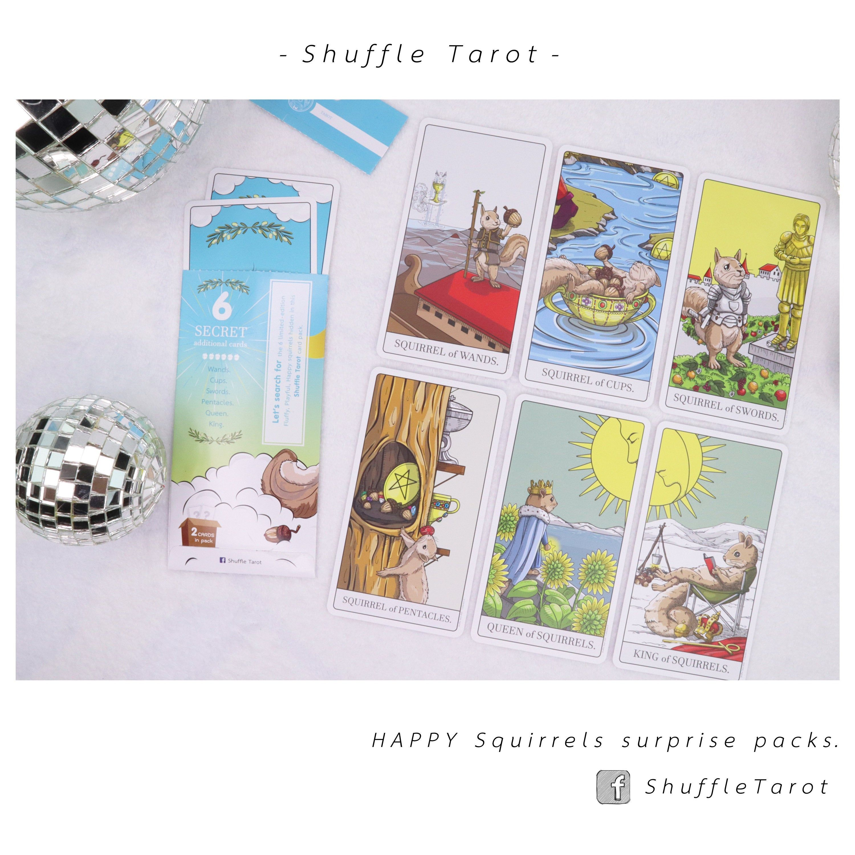 Add on for shuffle tarot deck the happy squirrel surprise