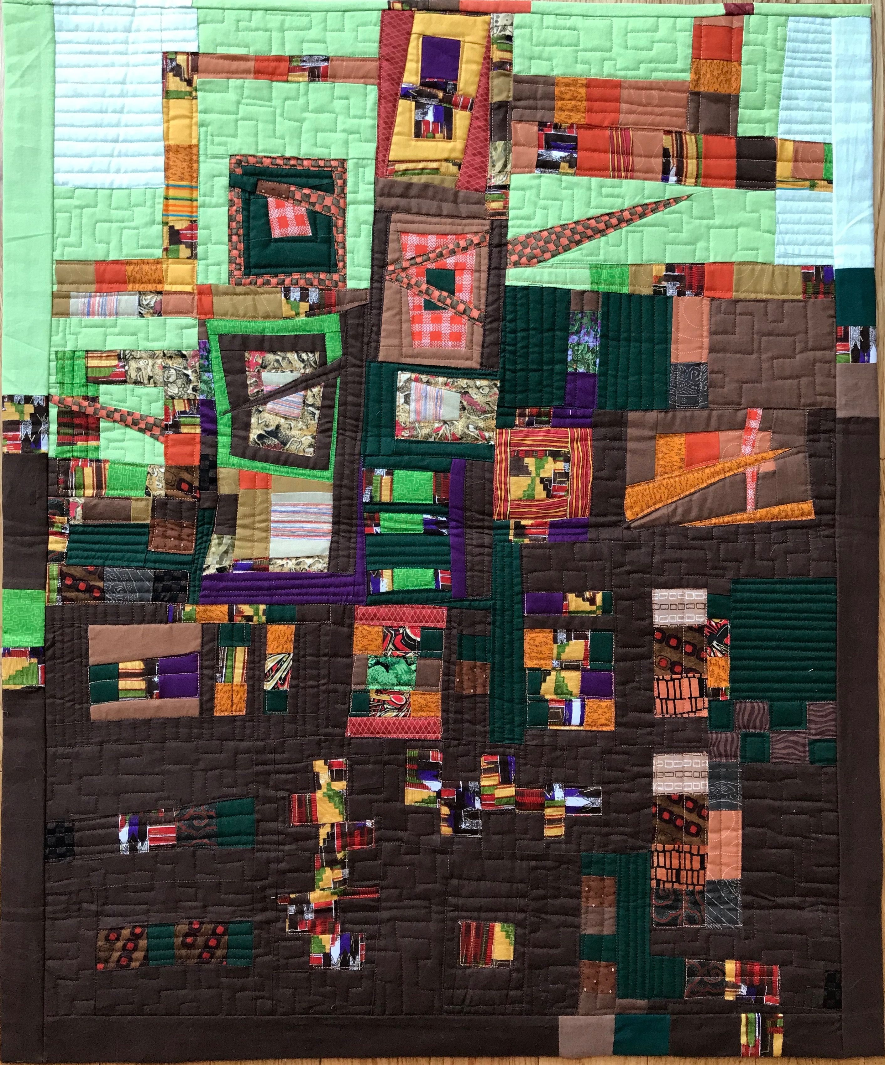 Improv Log Cabin Design Log Cabin Designs Art Quilts Cabin Design