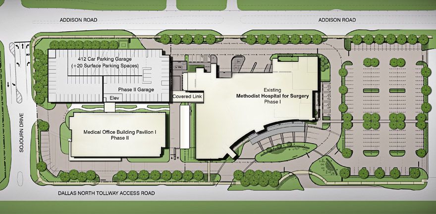 Methodist Medical Office Building Pavilion 1 Siteplan Denah Rumah