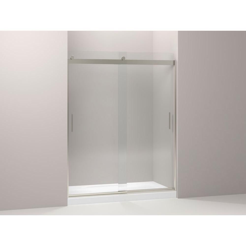 KOHLER Levity 59-5/8 in. x 74 in. Frameless Sliding Shower Door in ...