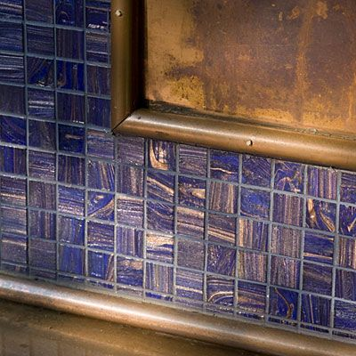 Mixed Materials Kitchen Backsplash Ideas Copper Colors And Recycled Glass
