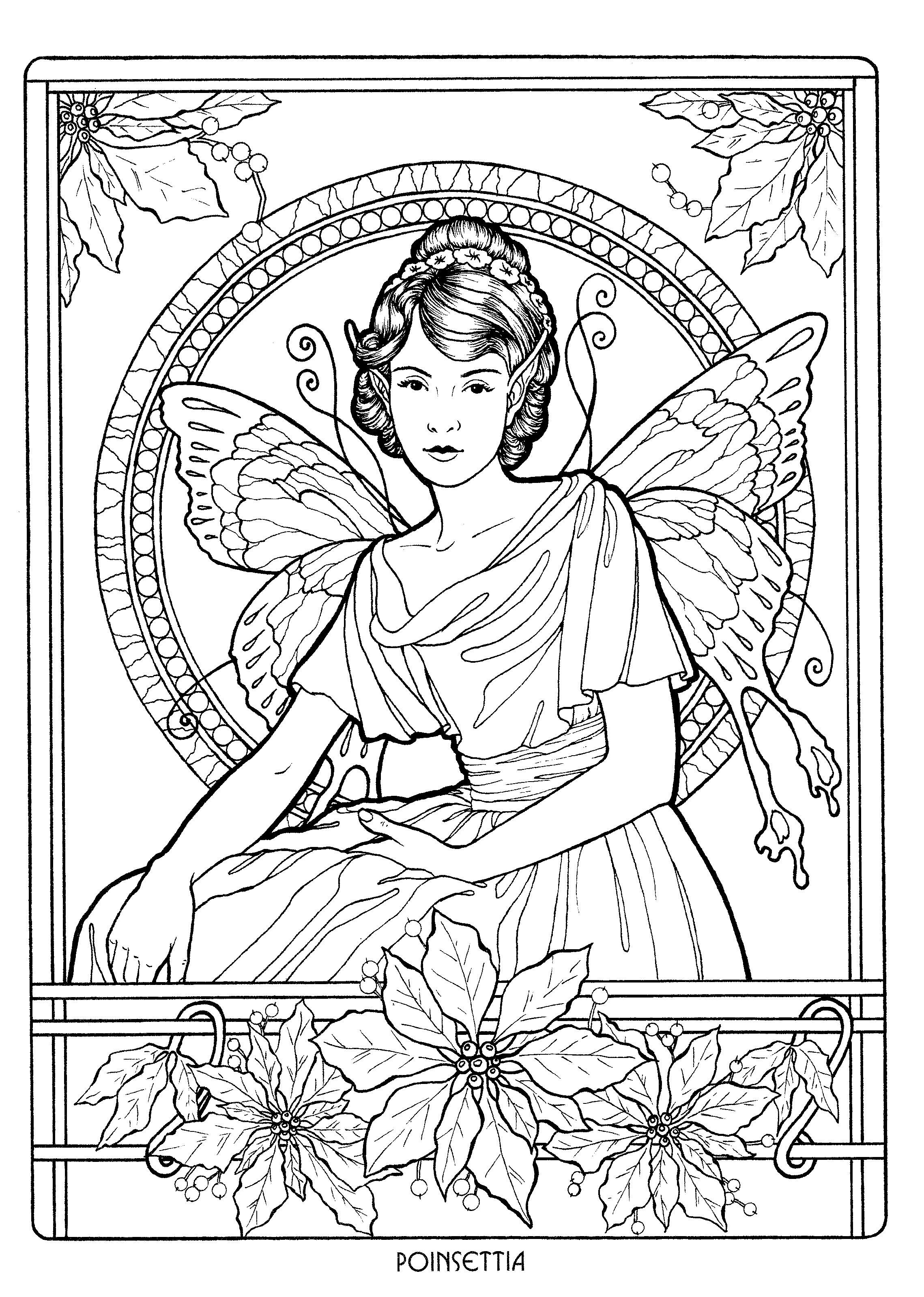 Fairy 12 | Coloring pages to print - Fantasy | Pinterest