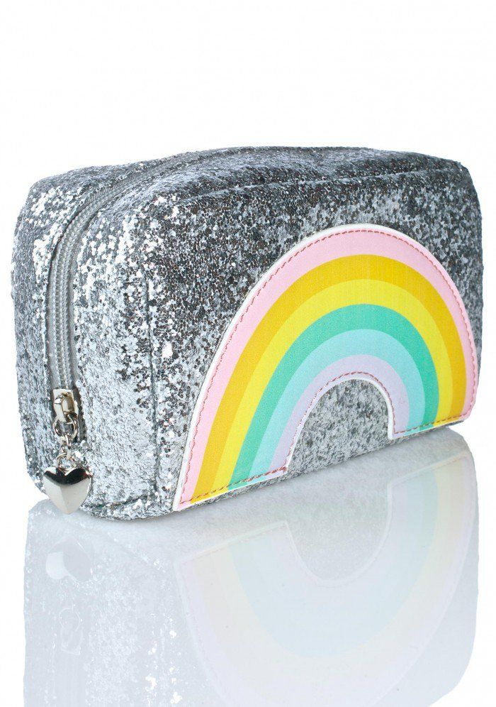 Ulta Silver Glitter Makeup Bag NWT (With images) Silver
