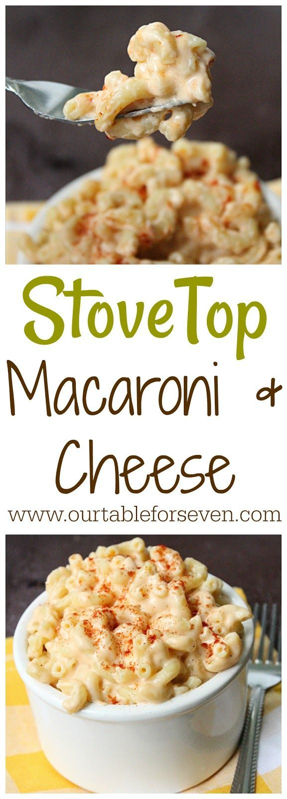Easy Stove Top Macaroni and Cheese from Table for Seven Stove Top Macaroni and Cheese @tableforseve