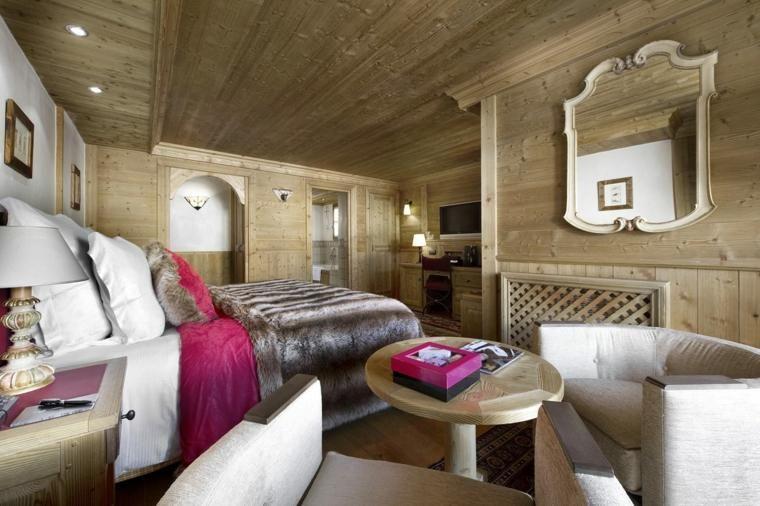 Houtstructuur en meer ideeën om de slaapkamer te versieren decor