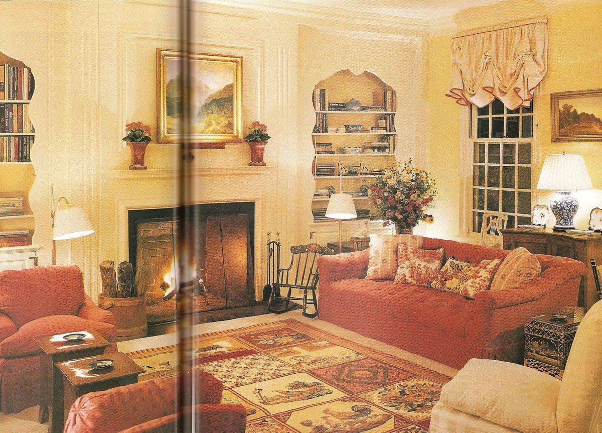 Astor living room as redecorated by Mark Hampton (Brian Vanden Brink, Architectural Digest, July 1996)