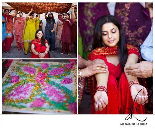 Big Fat Indian Wedding Punjabi Maiyan Ceremony