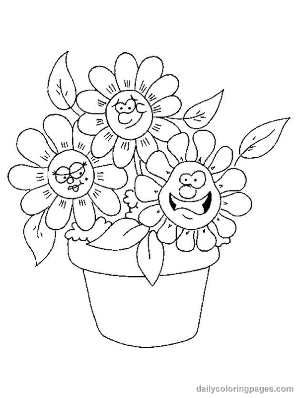Cute Flowers Coloring Pages : flowers, coloring, pages, Flower, Coloring, Pages, Spring, Pages,