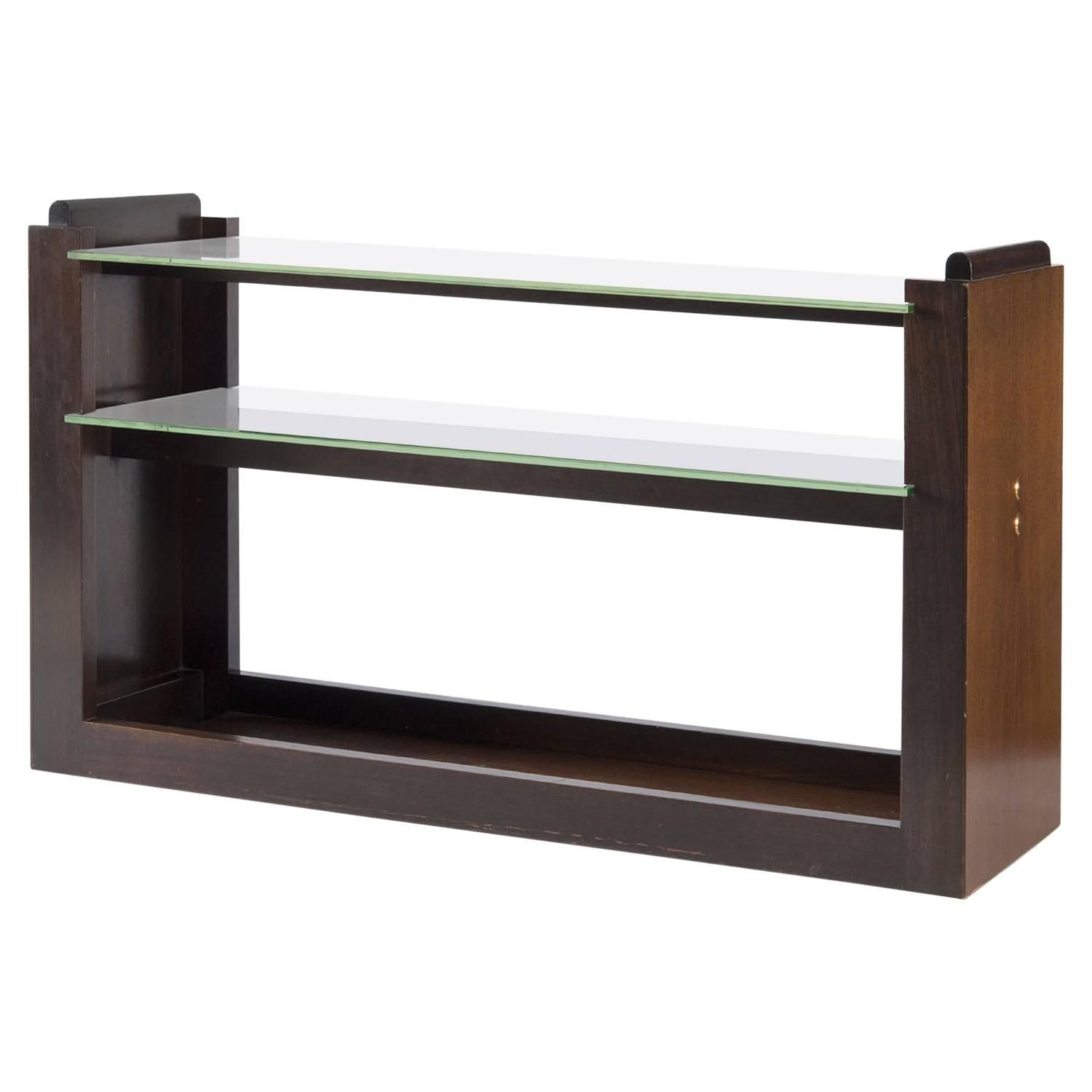 Glass console table with shelf console by andré sornay france s  consoles s and glass