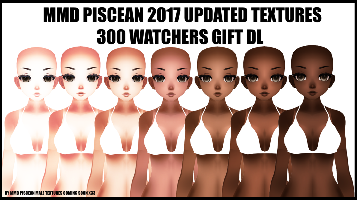 MMDXTDA} MMD PISCEAN 2017 TEXTURE PACK GIFT by SpIcY-PiScEs