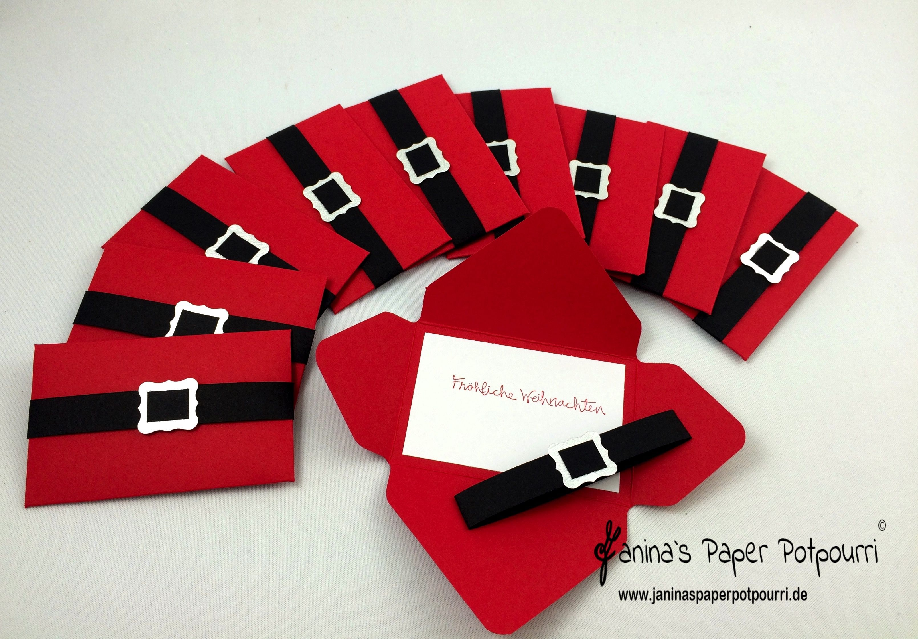 jpp gutschein verpackung santa 39 s belt 1 stampin up. Black Bedroom Furniture Sets. Home Design Ideas