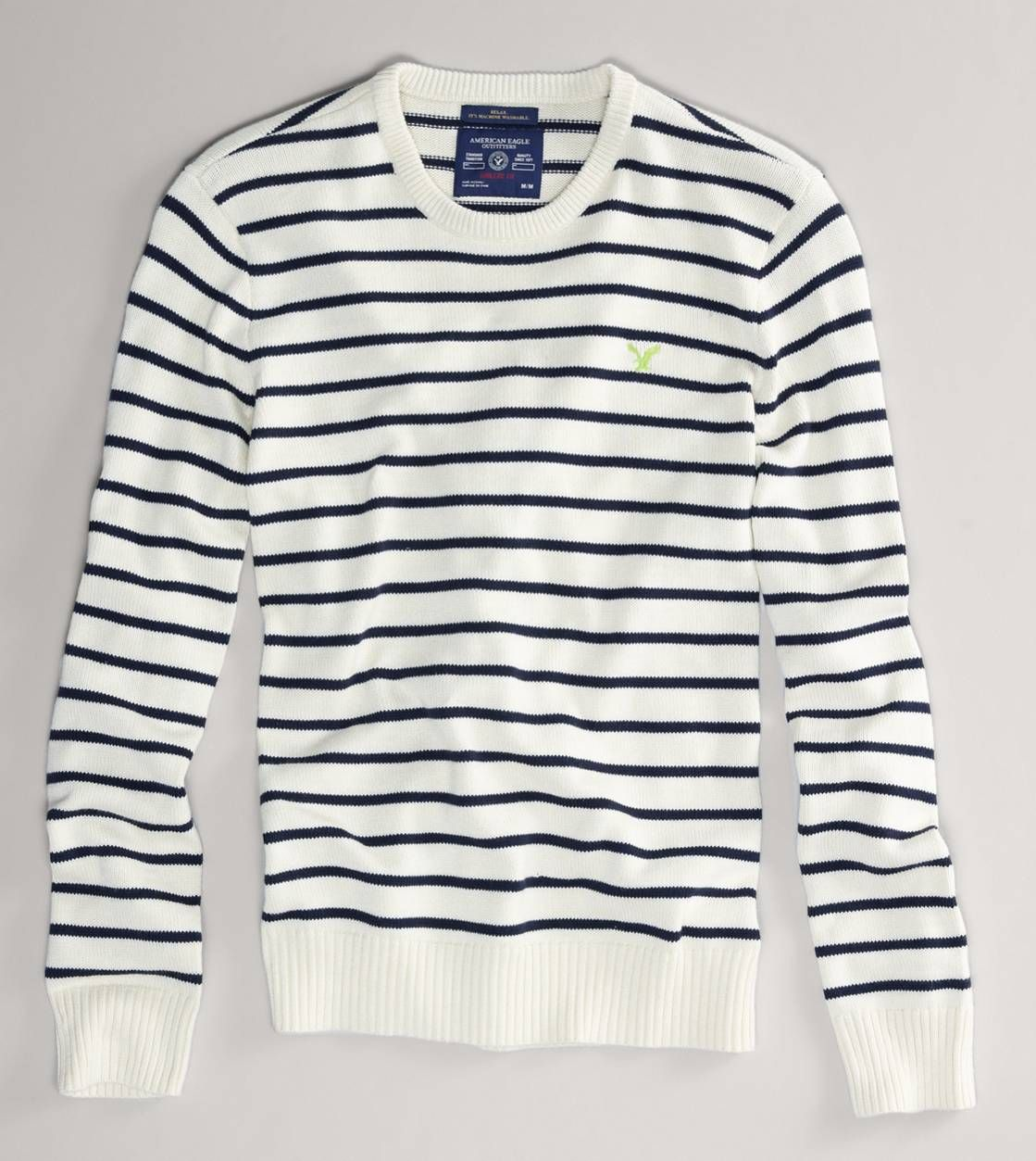 Ae Striped Crew Sweater The Best Time To Wear A Striped Sweater Is