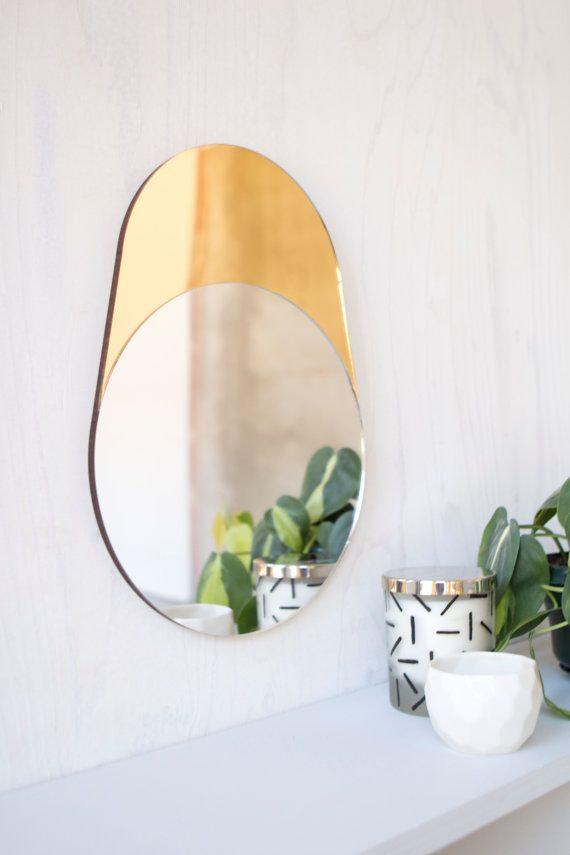 Gold And Silver Geometric Modern Mirror Cylinder Modern Mirror Geometric Mirror Mirror