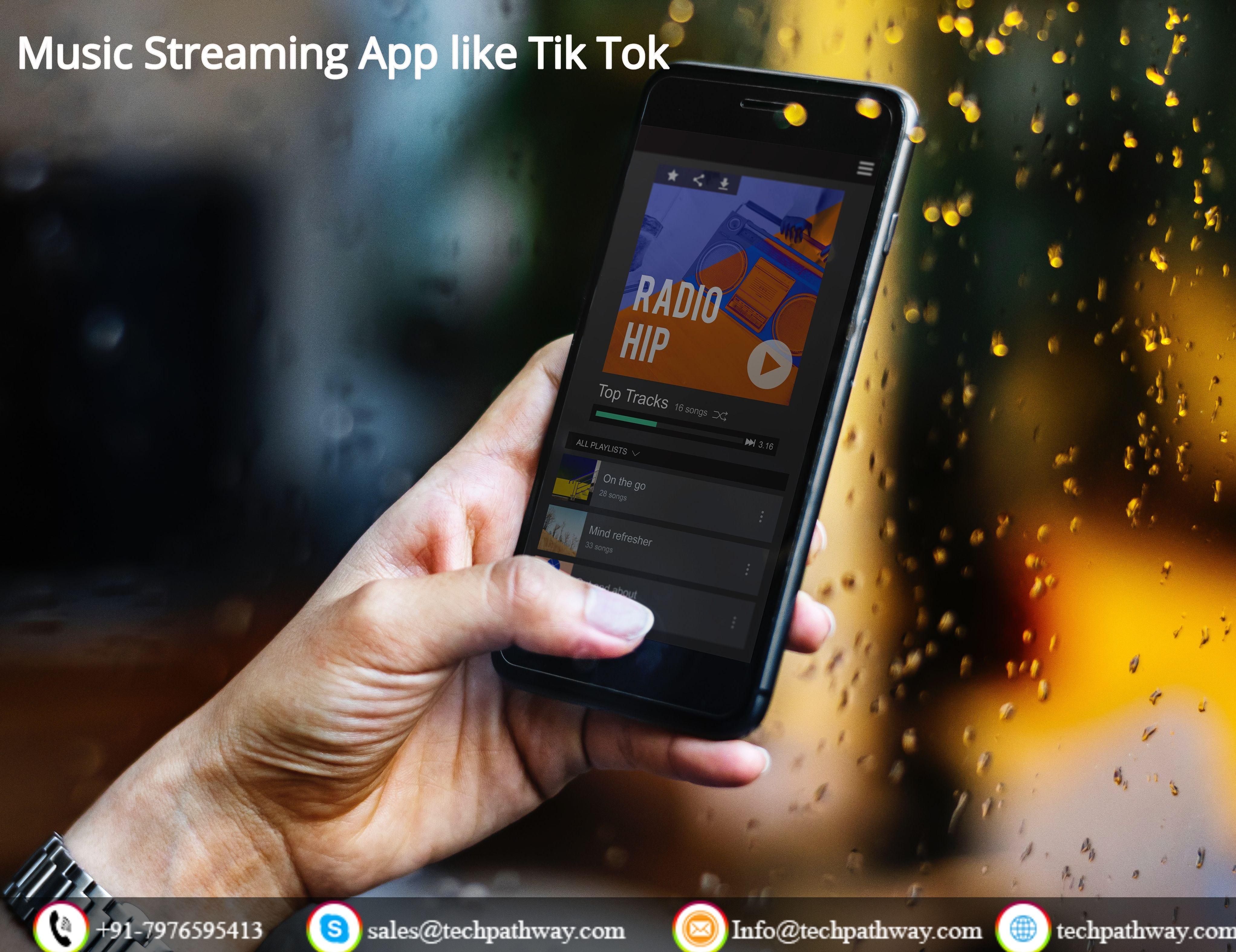 Develop A Music Streaming App Like Tik Tok Music Streaming App Music Streaming Smartphone Applications