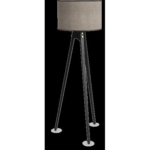 Trinite Floor Lamp Charcoal Color Floor Lamp Shade Linen