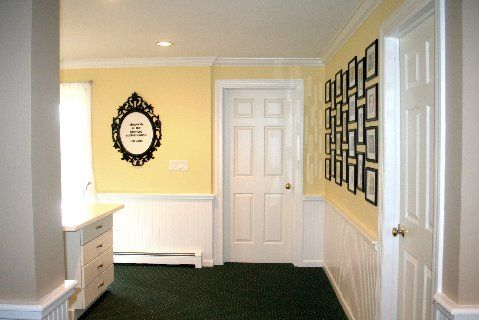 same frames hung in a simple pattern
