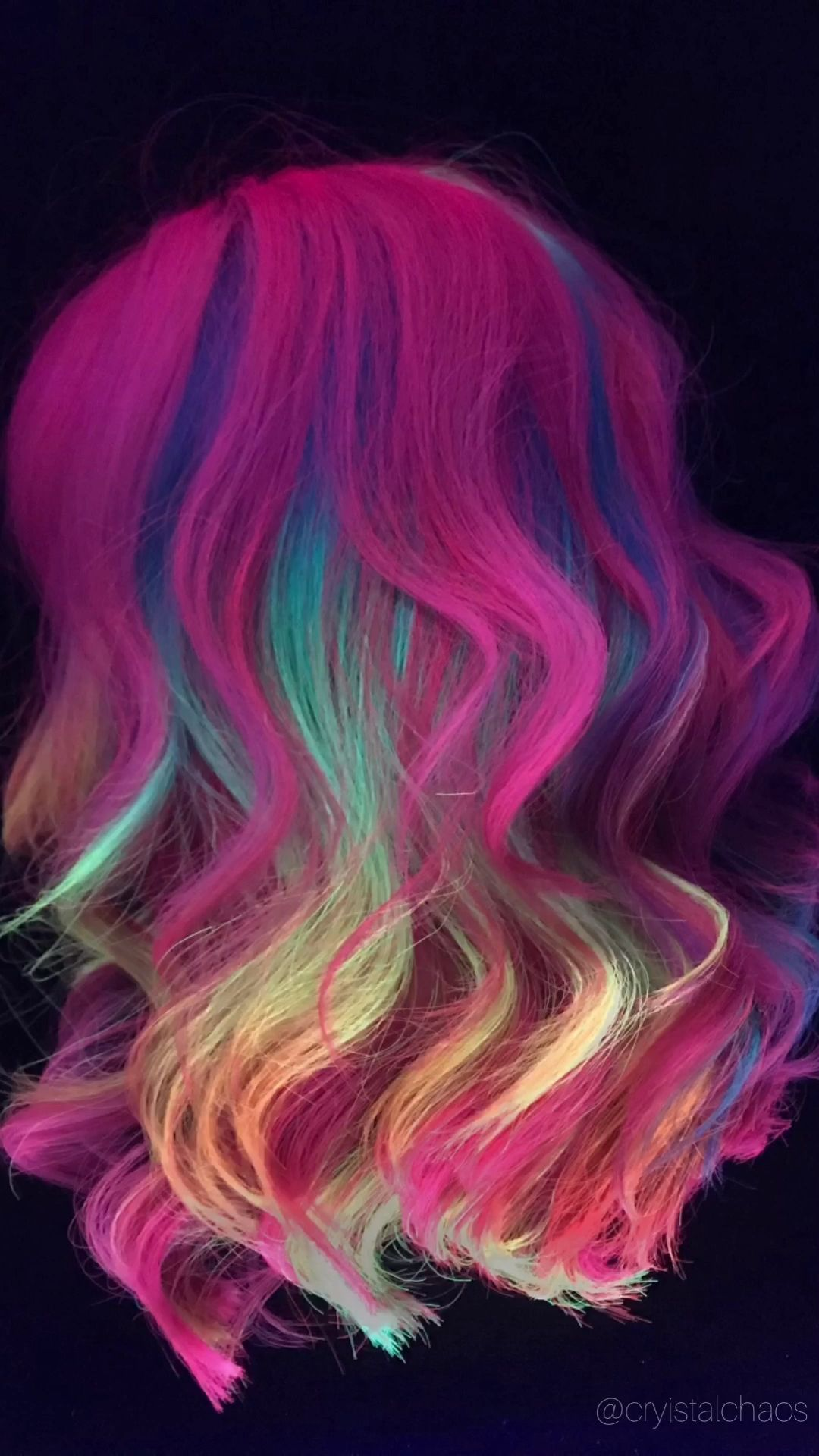 Black light hair