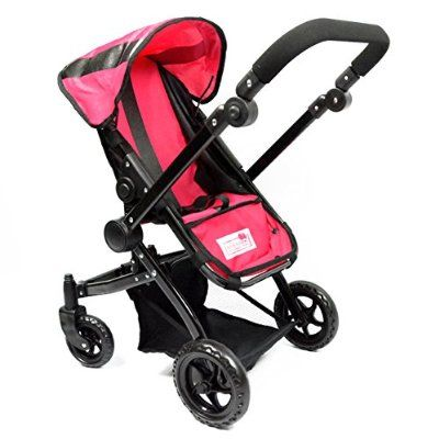 Deluxe Babyboo Doll Stroller with Swiveling Wheels and FREE Carriage Bag