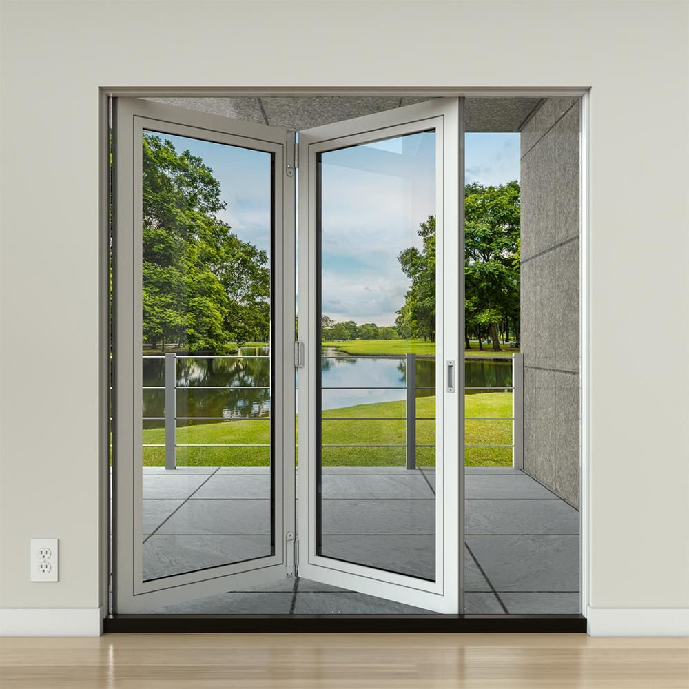 Jeld Wen 34 9 16 In X 76 3 8 In F 2500 Rh 1 Primed Fiberglass Right Hand Full Lite Active Slab Folding Patio Door Jw234000005 The Home Depot French Doors Exterior Patio Doors Folding Patio Doors