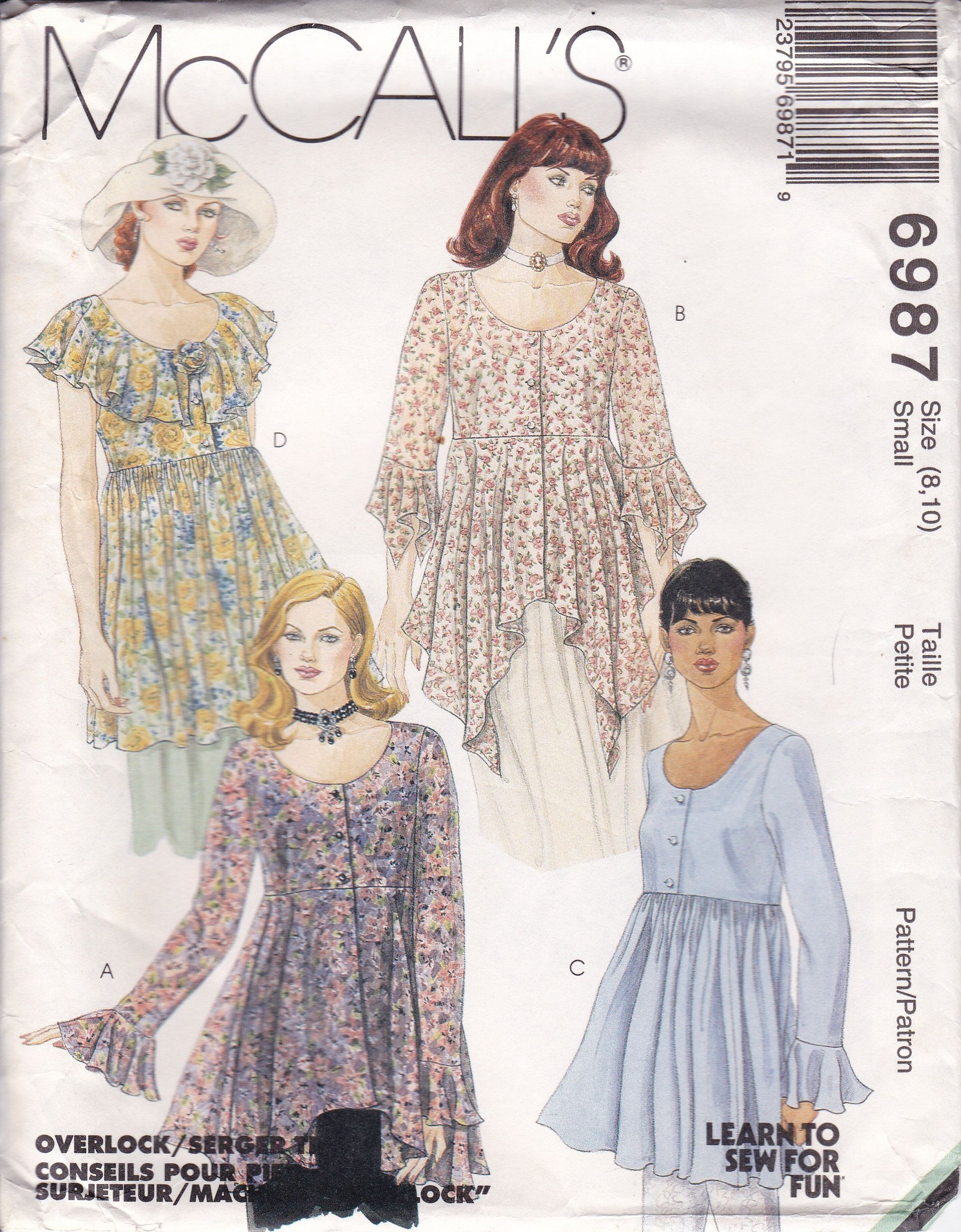 Mccalls Sewing Pattern For Loose Fitting Ruffle High Waist Blouse