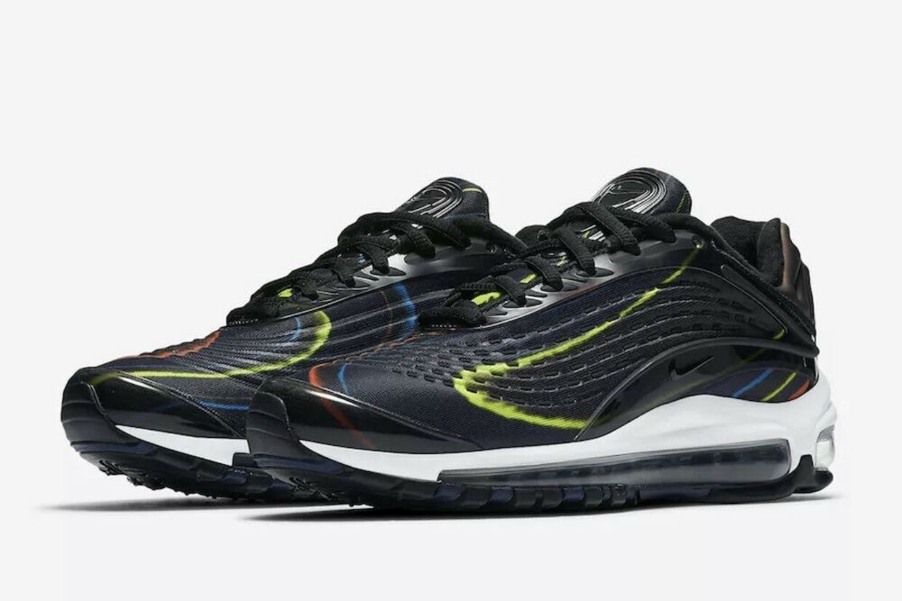 d6e6fdfa0517f Women's Nike Air Max Deluxe Black Midnight Navy AQ1272-001 Size 7 ...