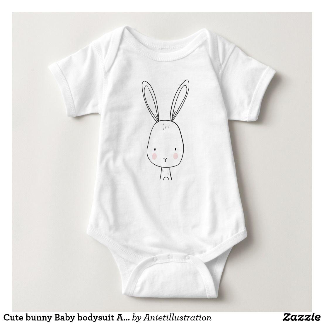 Cute bunny Baby bodysuit Animal Woodland Forest