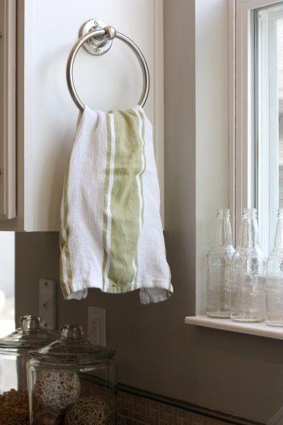 Bhp 2304sn Waterfront Series Towel Ring Bathroom Hardware Bath Accessory Satin Nickel Kitchen Towel Holder