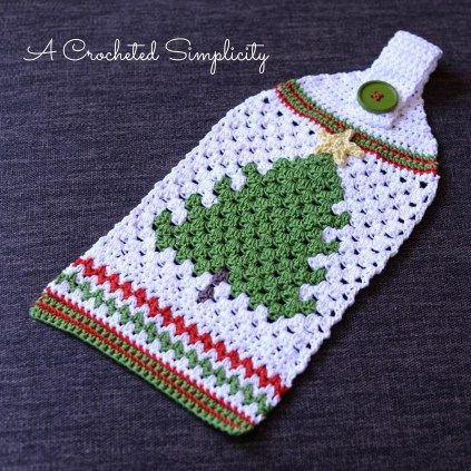 Free Crochet Pattern - Retro Christmas Tree Towel | Crochet ...