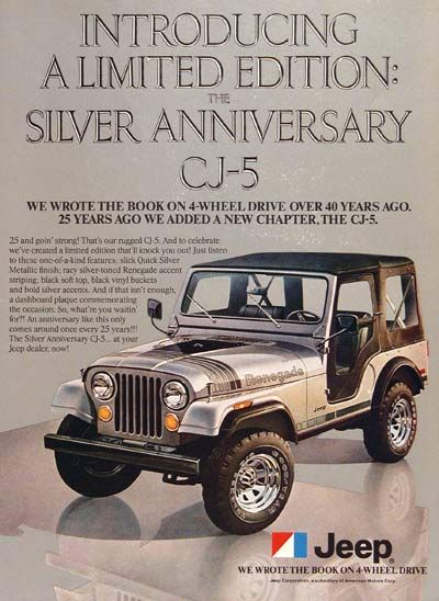 Cj5 Silver Anniversary Jeep Cj Forums Jeep Cj Jeep Cj5 Jeep