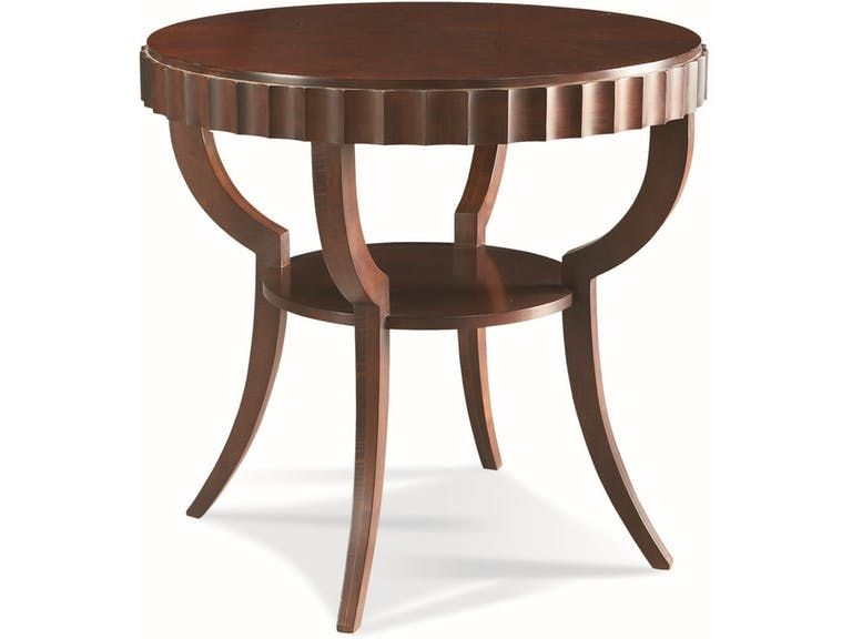 Cth Sherrill Occasional Round Lamp Table 440 930 Haw