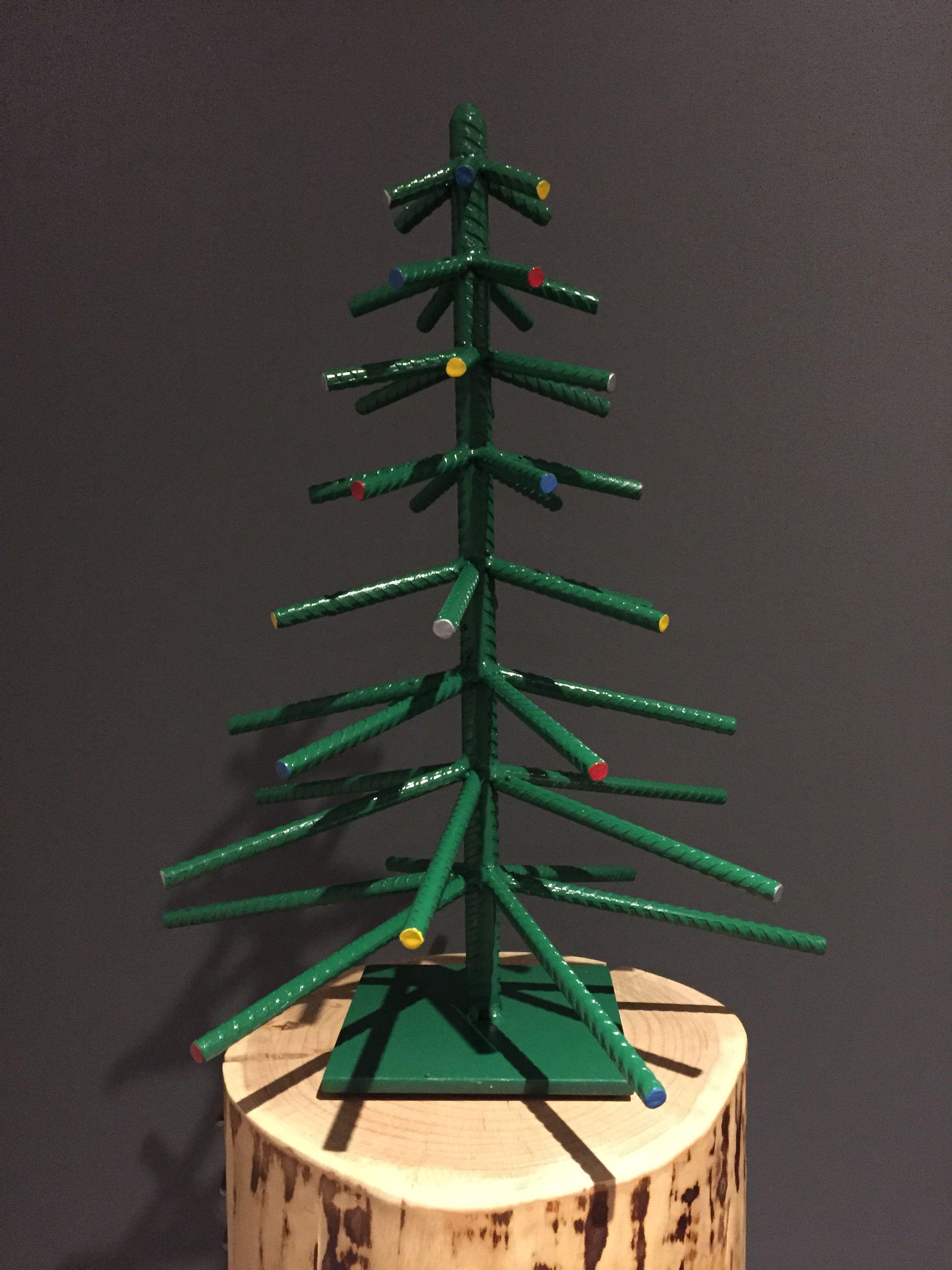 Rebar Green Christmas Tree By Yanick Bluteau Metal Tree Wall Art Metal Tree Art Gallery Wall