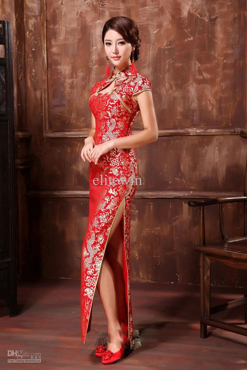 Vintage Wedding Dress Cheongsam Satin Lace Slim Sheath Chinese Cheongsam High Slits Hole In Front An Chinese Dress Modern Chinese Wedding Dress Cheongsam Dress [ 1200 x 800 Pixel ]