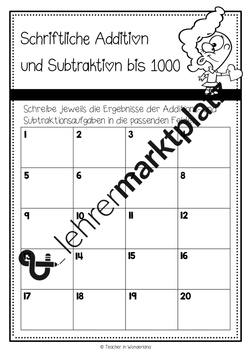 Die Schleichaufgaben/ Auftragskarten zur schriftlichen Addition und ...